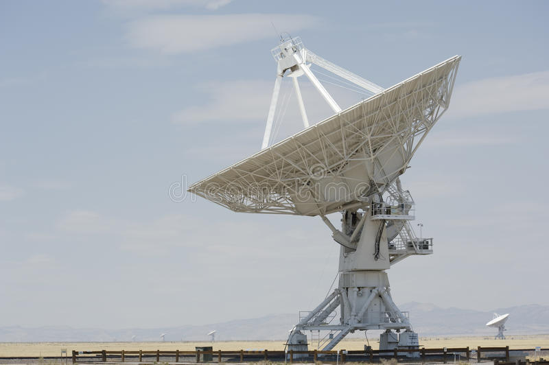 Very Large Array. Several of the 27 independent antennas pointed skyward at the Very Large Array (VLA) National Radio Astronomy observatory near Socorro, New royalty free stock image