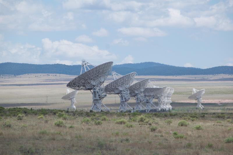 Very Large Array Antennas in New Mexico royalty free stock photos