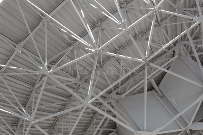 Very Large Array very close view of understructure of huge radio telescope antenna, technology engineering. Horizontal aspect royalty free stock photography