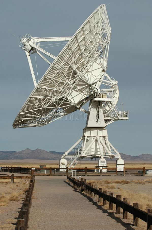 Very Large Array. A huge radio antenna at the Very Large Array facility in New Mexico royalty free stock photography
