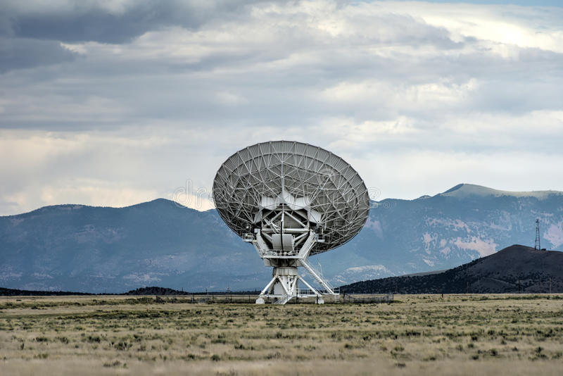Very Large Array - New Mexico. The Karl G. Jansky Very Large Array (VLA) is a radio astronomy observatory located on the Plains of San Agustin in New Mexico stock photography