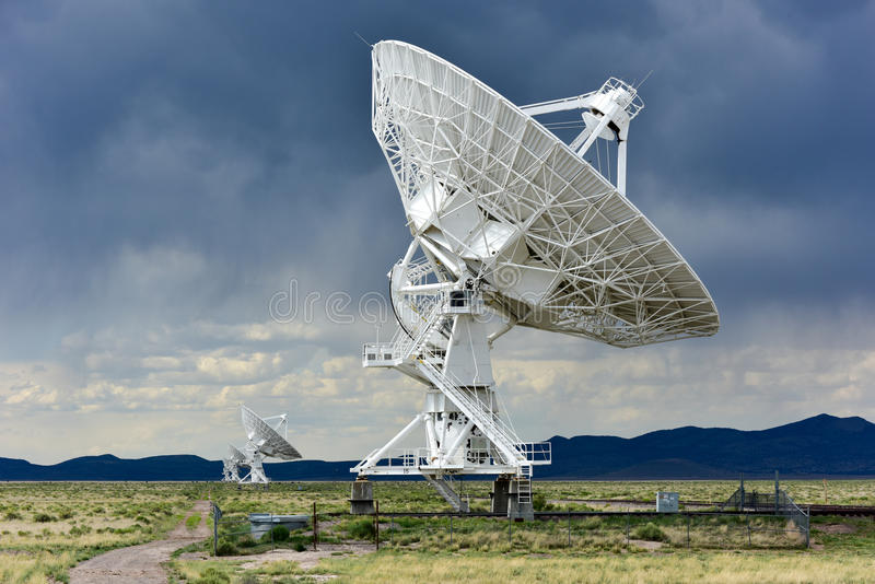 Very Large Array - New Mexico. The Karl G. Jansky Very Large Array (VLA) is a radio astronomy observatory located on the Plains of San Agustin in New Mexico stock images