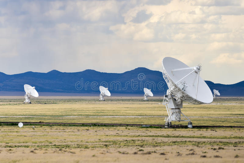Very Large Array - New Mexico. The Karl G. Jansky Very Large Array (VLA) is a radio astronomy observatory located on the Plains of San Agustin in New Mexico royalty free stock image