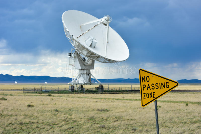 Very Large Array - New Mexico. The Karl G. Jansky Very Large Array (VLA) is a radio astronomy observatory located on the Plains of San Agustin in New Mexico royalty free stock photos