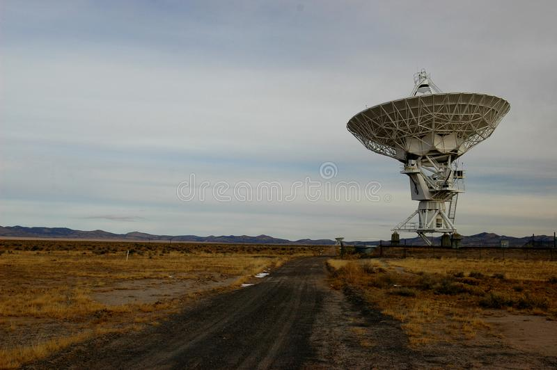 The Very Large Array. A large radio antenna from the Very Large Array in south New Mexico stock photos