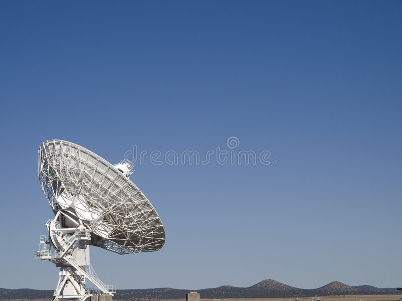 Very Large Array Radio Telescope. Antenna at the Very Large Array Radio Telescope in Socorro, New Mexico stock images