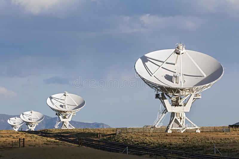 Very Large Array Satellite Dishes. In New Mexico, USA stock photo