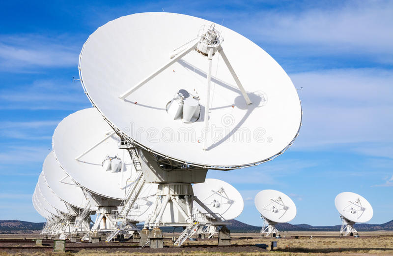 Very Large Array,. Satellites Dishes royalty free stock photo