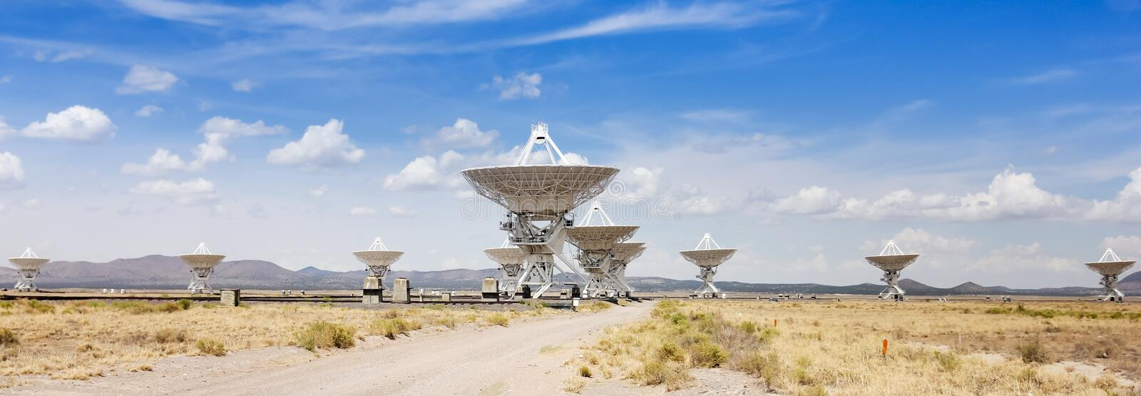 A Very Large Array Scene in New Mexico stock photo