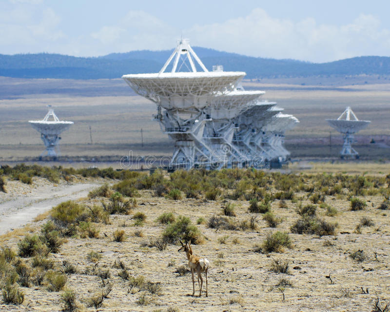 A Very Large Array Scene in New Mexico royalty free stock images