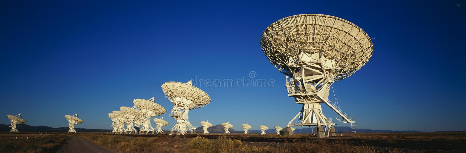Very Large Array in Socorro, NM stock image