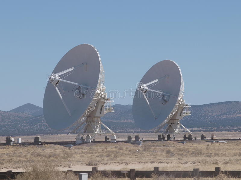 Very Large Array. The Very Large Array, (VLA) is an astronomical radio observatory on the Plains of San Agustin near Socorro, New Mexico stock image