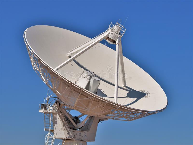 Listening for Sounds at Very Large Array. The Very Large Array `VLA` is an astronomical radio observatory on the Plains of San Agustin near Socorro, New Mexico royalty free stock images