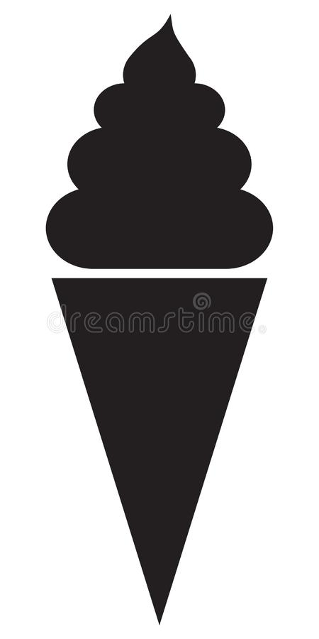 A very large chocolate ice cream cone perfect for the summer heat. royalty free illustration