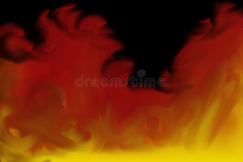 Very Large Fire Disaster in the Night. This is a digital art illustration. The illustration shows a very large fire disaster in the night royalty free illustration