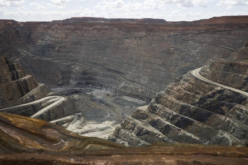 Famous Super Pit of Kalgoorlie. royalty free stock photos