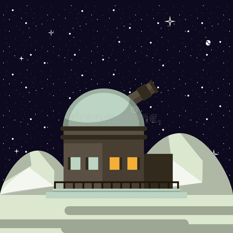 Very large telescope stock illustration