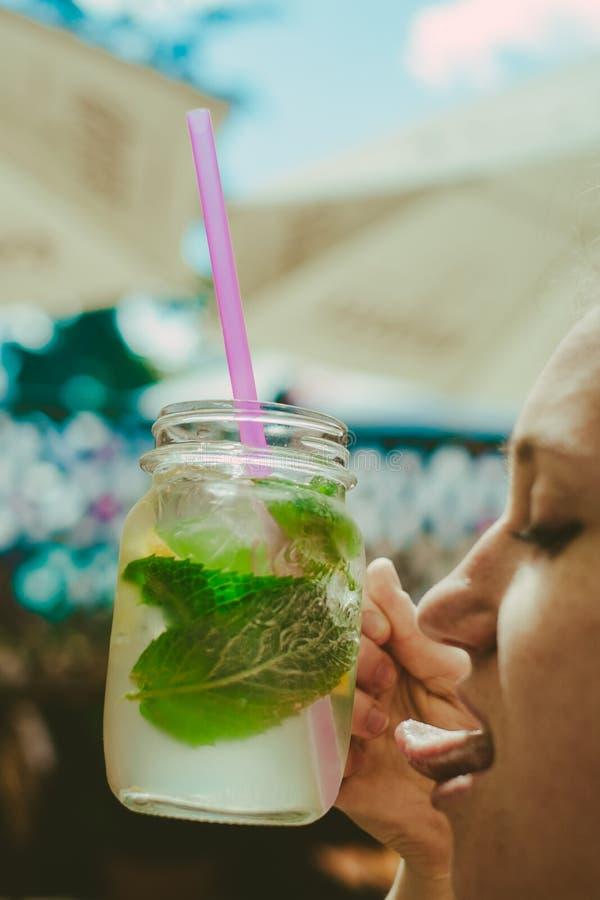Very lick-able fresh, juicy lemonaide stock photography