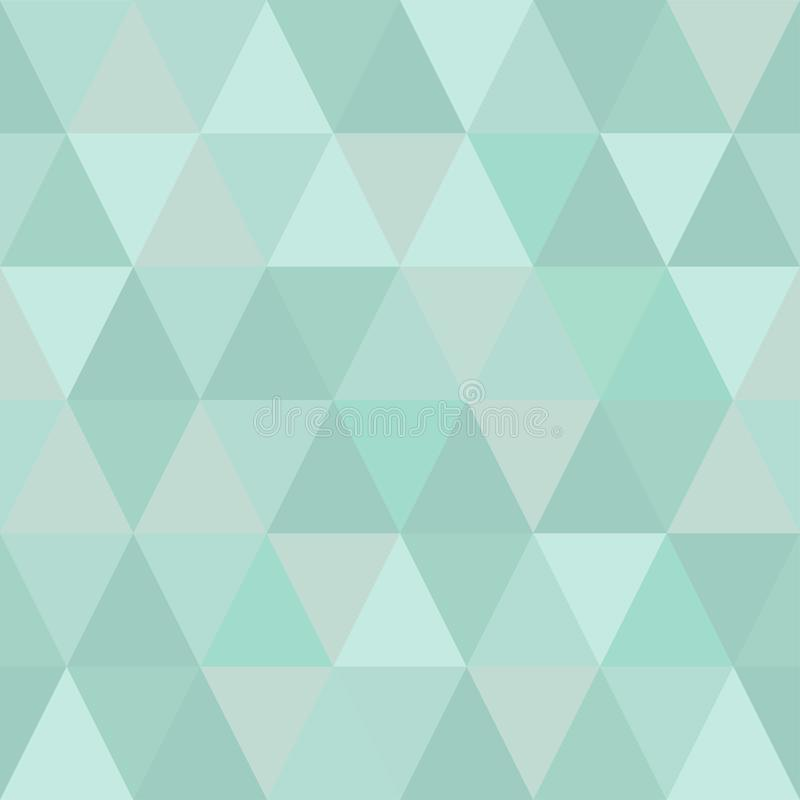 Very light seamless pattern of triangles of cold winter hues. Gentle shades royalty free illustration