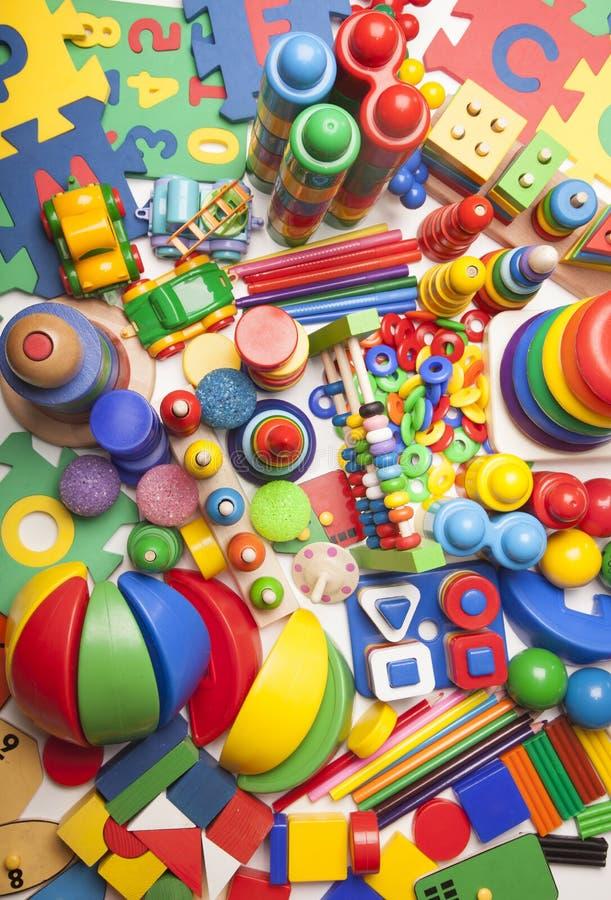 Very many toys stock photos