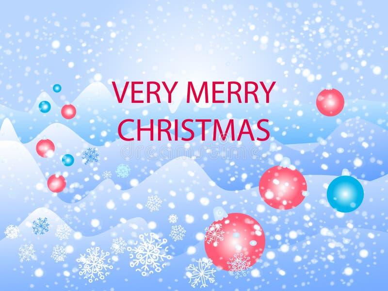 Very merry christmas vector illustration
