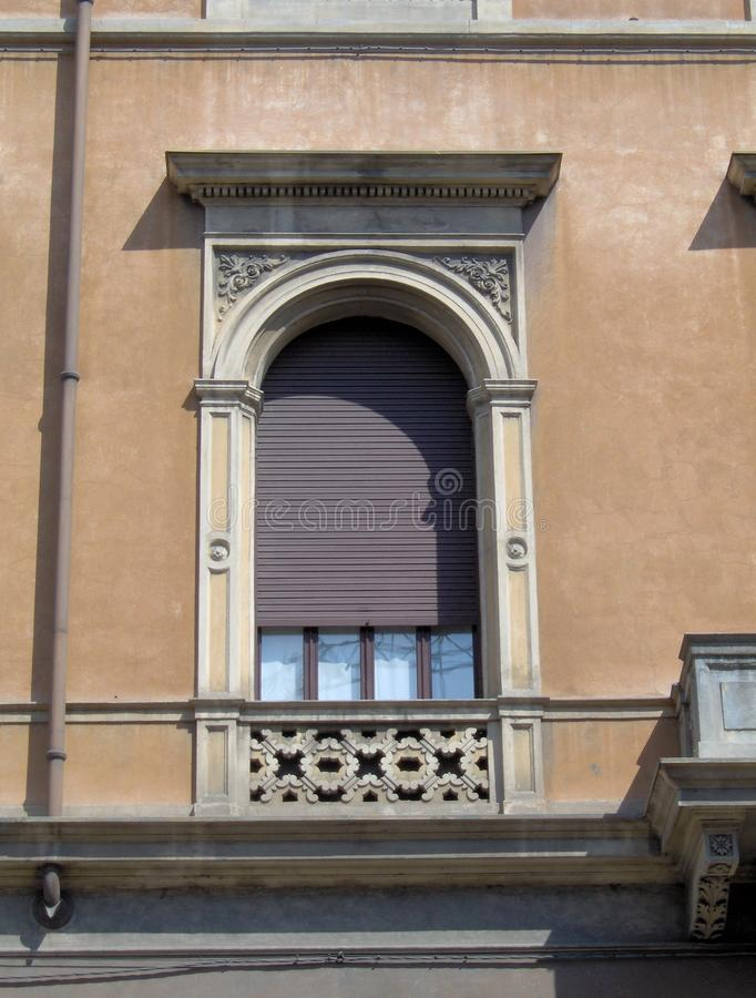 Very nice typical window in Mantova, Italy stock image