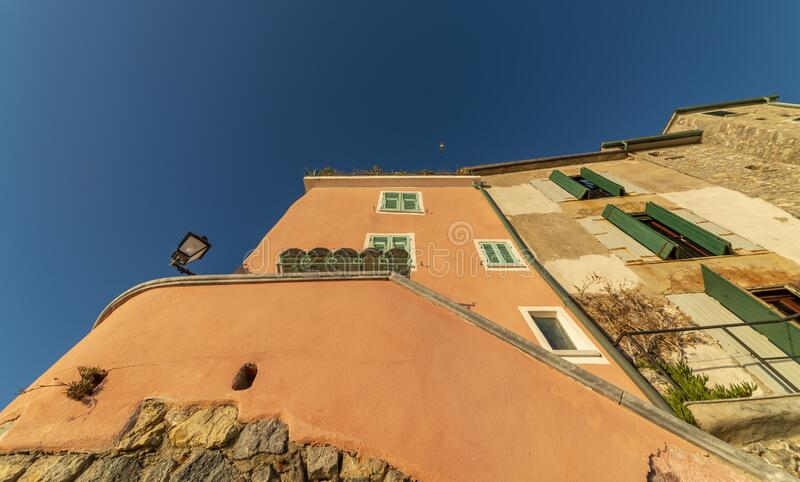 Very nice view of tellaro a nice village in italy royalty free stock image