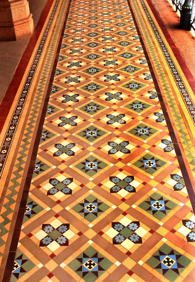 Very nice vintage flooring in the palace of bangalore. Bangalore Palace, a palace located in Bangalore, Karnataka, India. Construction of a palace building was royalty free stock photos