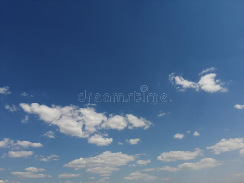 Very, very nice white clouds. royalty free stock images