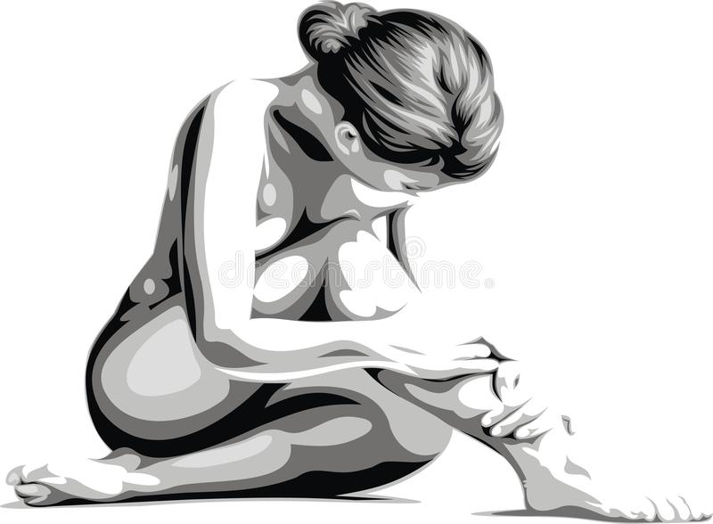 Very nice woman body vector illustration