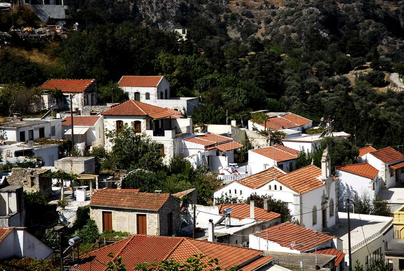 Lappa ,the old city in Crete royalty free stock photo