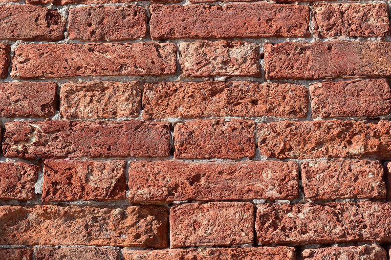 Very old brick wall. Abstract background with very old brick wall stock photo