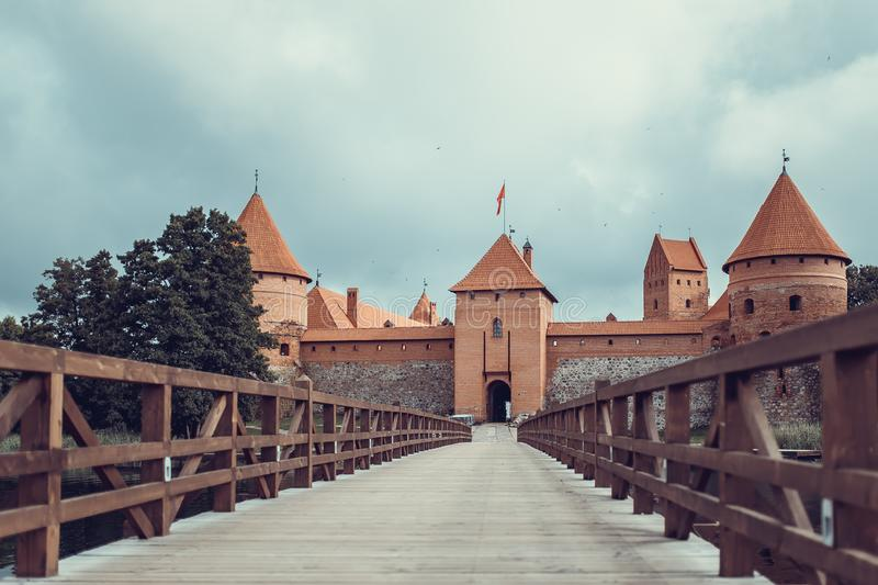 very old castle wall middle ages royalty free stock images