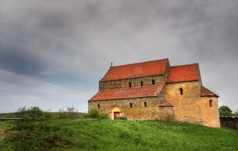 Download Very old Catholic church stock image. Image of clouds - 4714357
