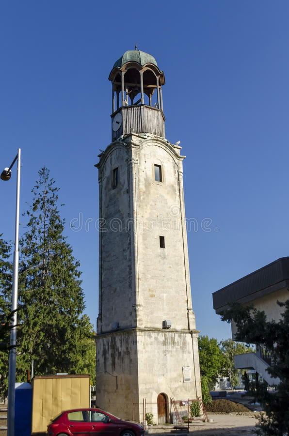 Free Very Old Clock Tower In Razgrad Town Royalty Free Stock Photos - 63824368