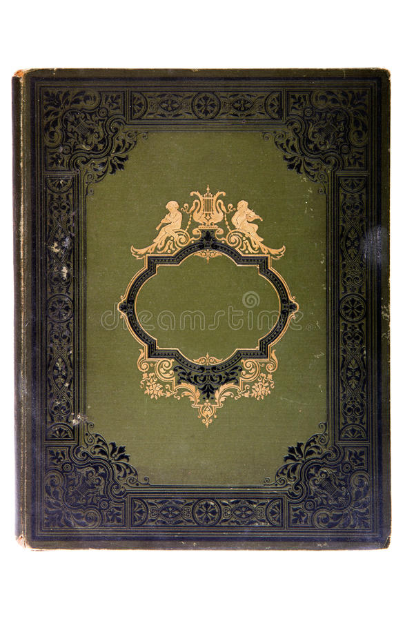 Very old cover book (early 1900's). Isolated on white stock image