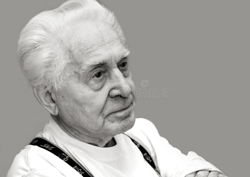 A Very Old Man Royalty Free Stock Photography