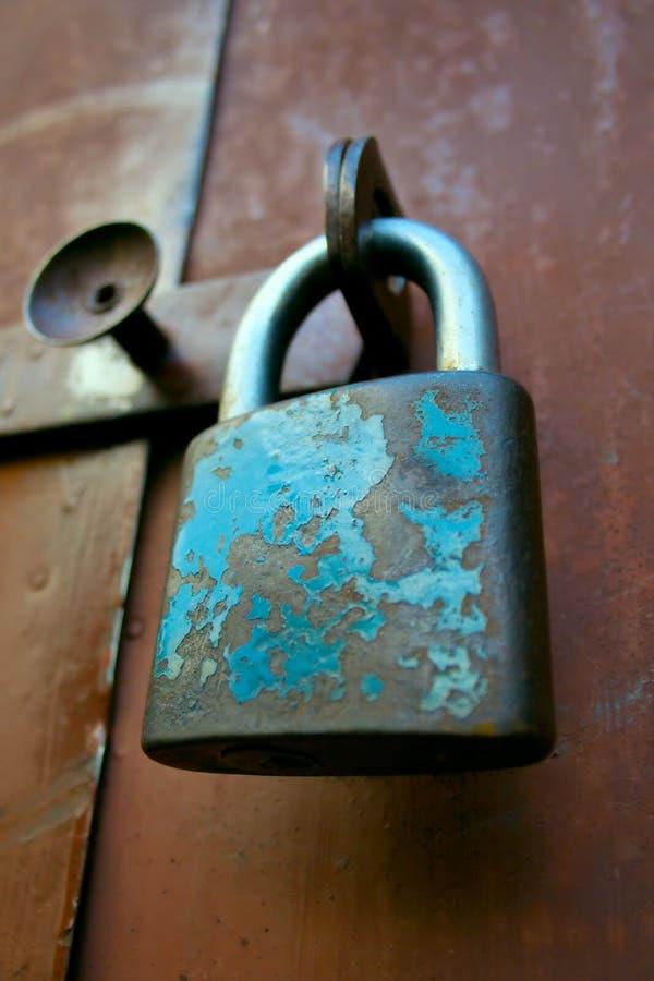 Very old padlock royalty free stock photo