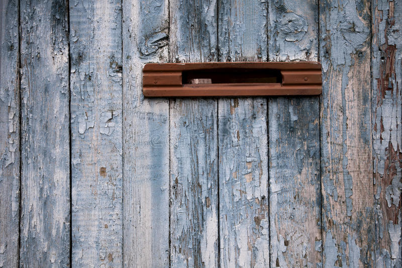 Download Very Old Postbox In Wheathered Wooden Fence Stock Image - Image: 17333803