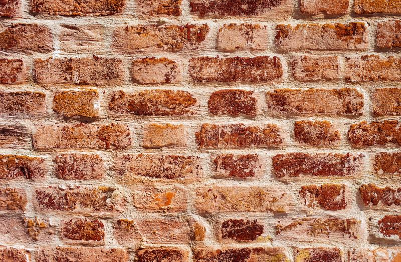 Old red brick wall. Brickwork texture royalty free stock images