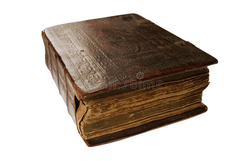 Very old russian book with Orthodox prayers stock image
