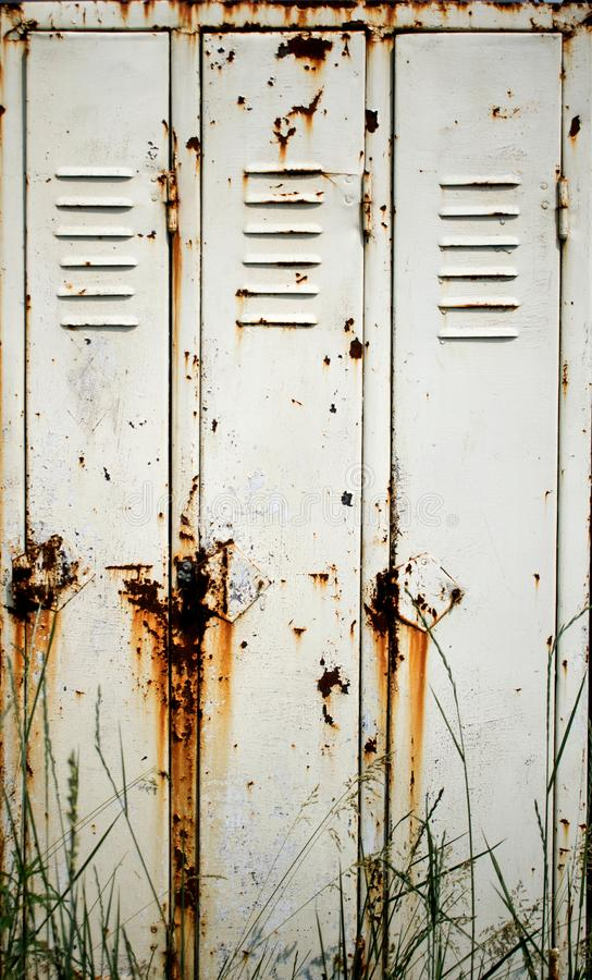 A very old and rusty cupboard royalty free stock photography