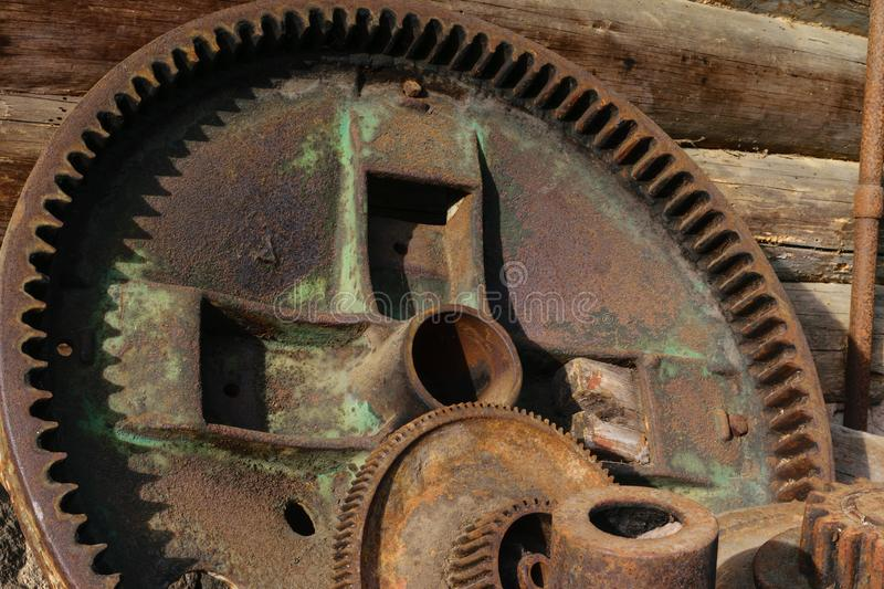 Rural metal device parts royalty free stock photo