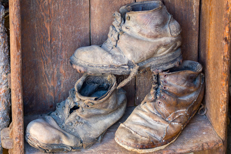 Download Very old shoes stock image. Image of outdoors, work, boots - 28257237