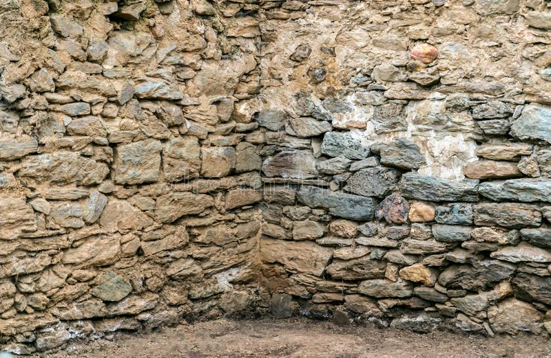 Old Ancient Stone Wall stock photography
