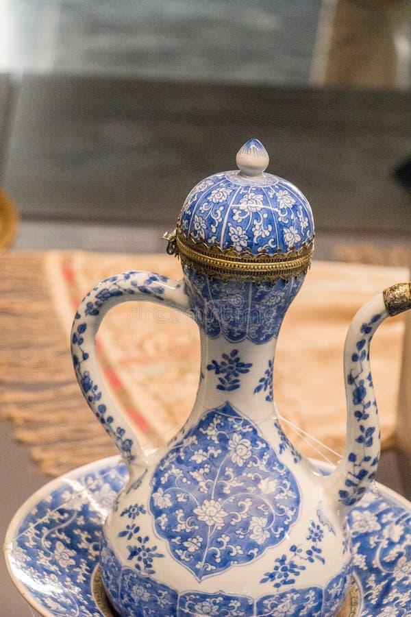 Very old style seramic ewer water jar stock image