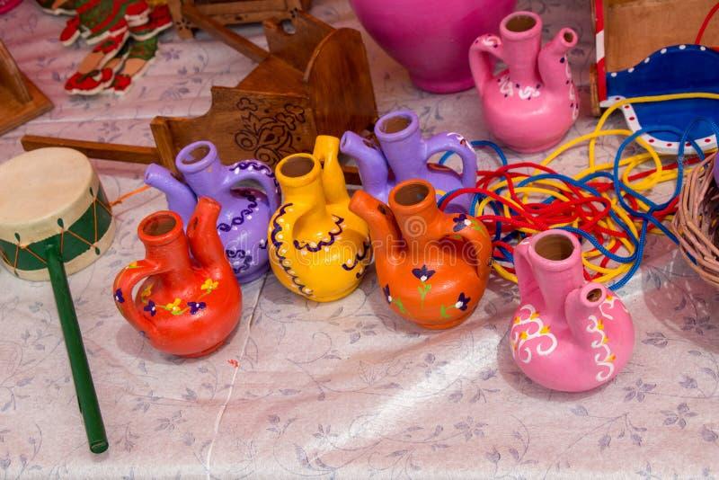 Very old style seramic ewer water jar stock photo