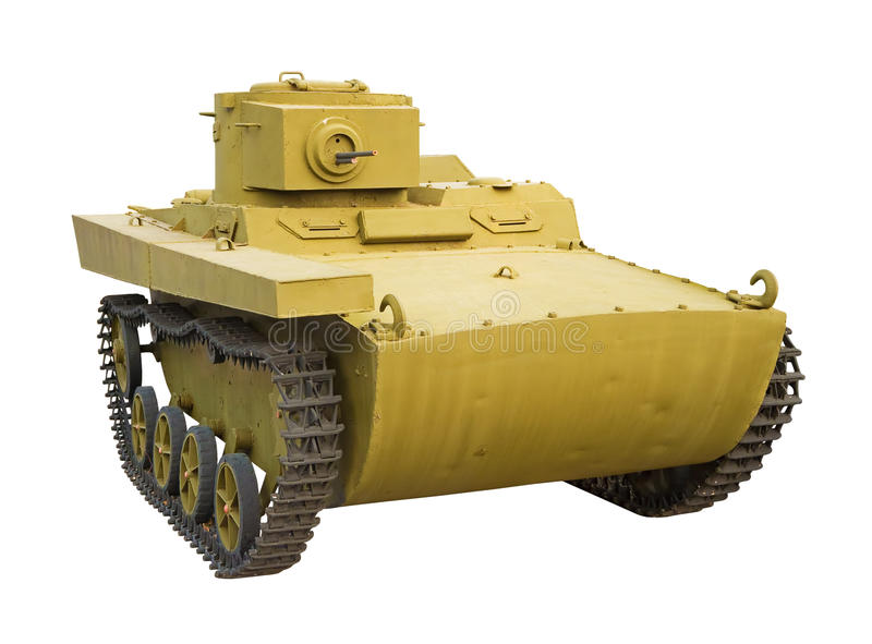 Very old tank stock image