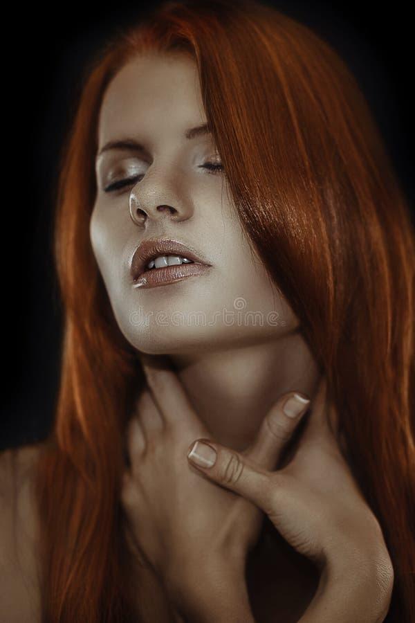 Very redhead girl stock image