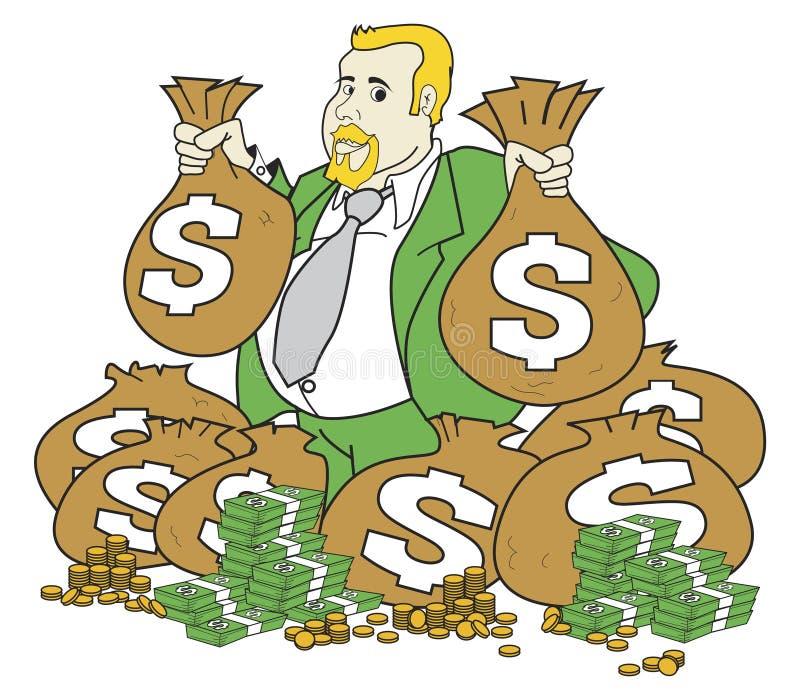 very rich man stock vector illustration of wealth bank 3236651 rh dreamstime com Rich Person Clip Art Man Clip Art